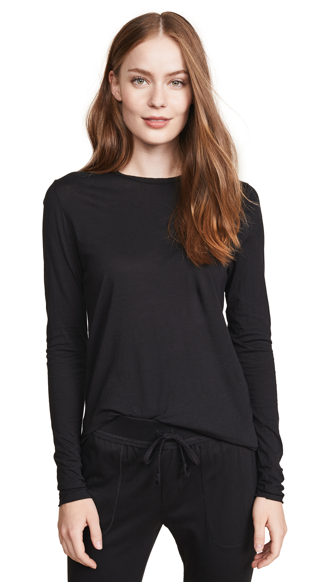 Skin Long Sleeve Tee In Black