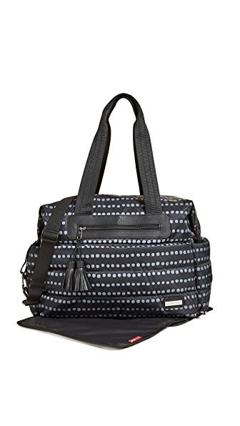 Skip Hop Riverside Diaper Tote In Black Dot