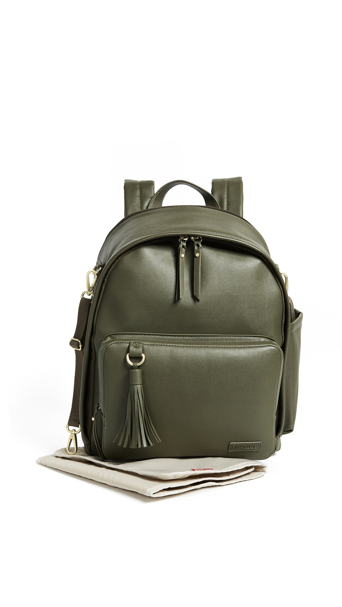 SKIP HOP Greenwich Simply Chic Diaper Backpack in Olive