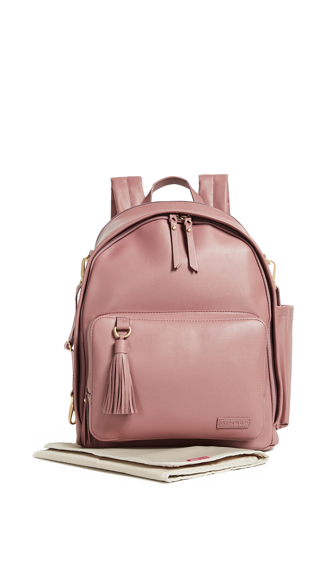 SKIP HOP Greenwich Simply Chic Diaper Backpack in Dusty Rose