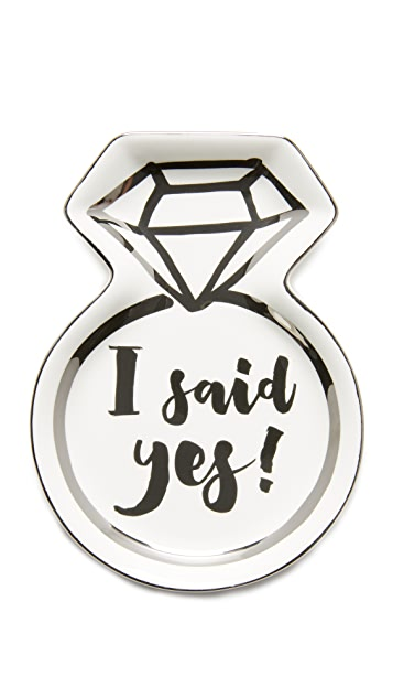 Slant Collections I Said Yes Trinket Tray
