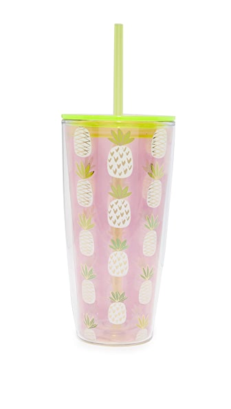 Slant Collections Pineapple Grayson Tumbler - Pink