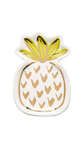 Slant Collections Pineapple Trinket Tray - Multi