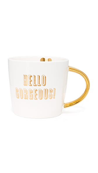 Slant Collections Hello Gorgeous Coffee Mug - Gold