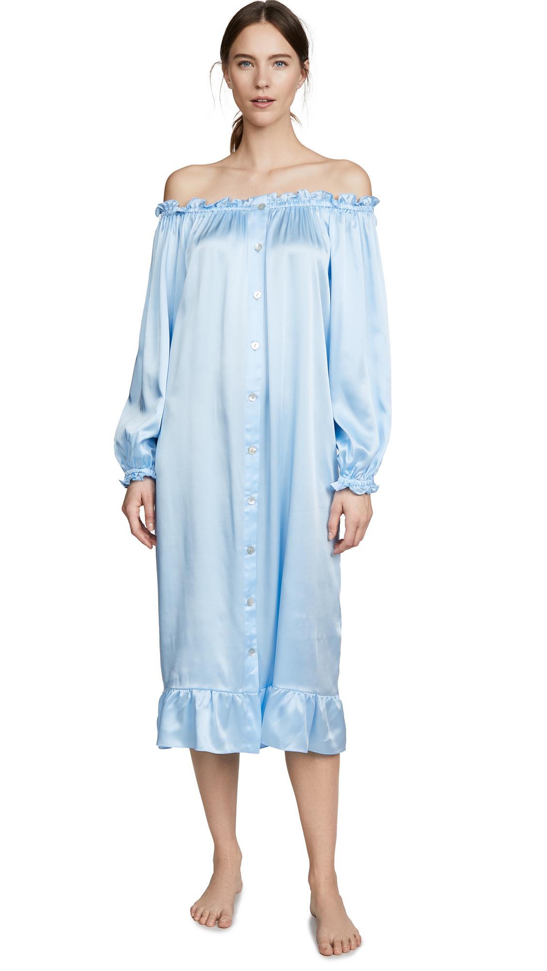 Buy Sleeper online - photo of Sleeper Maria Silk Loungewear Dress