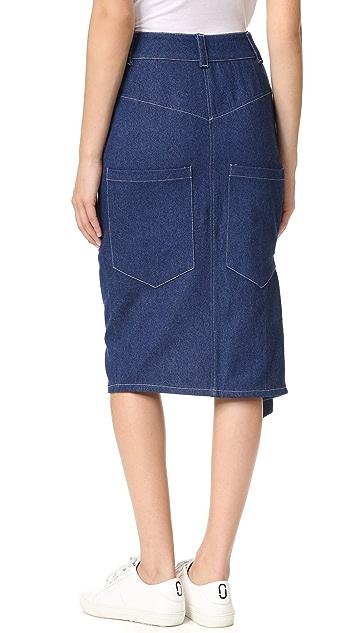 Sandy Liang Cole Denim Skirt