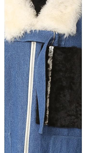 Sandy Liang Citroen Shearling Coat