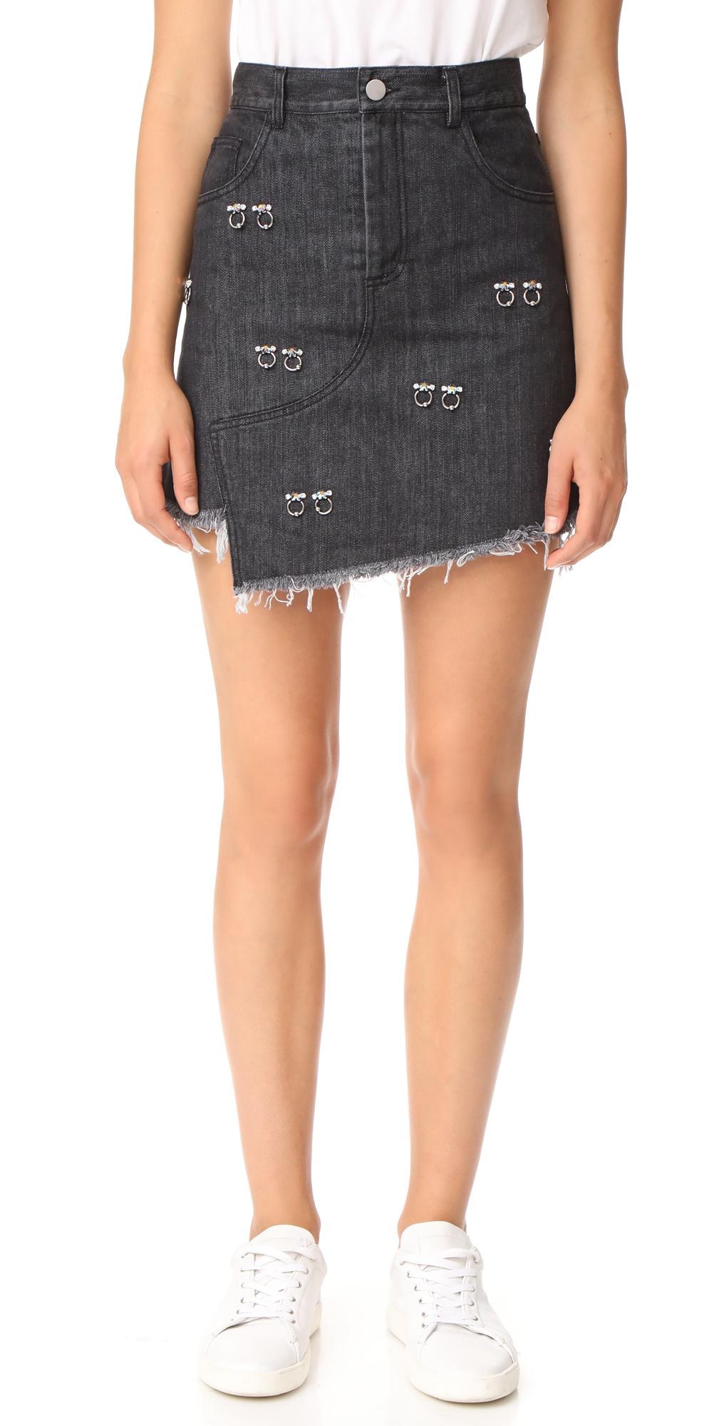 Embellished Crombie Skirt Sandy Liang