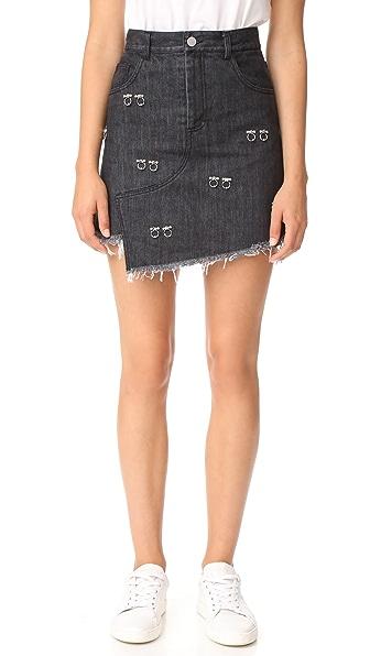 Sandy Liang Embellished Crombie Skirt