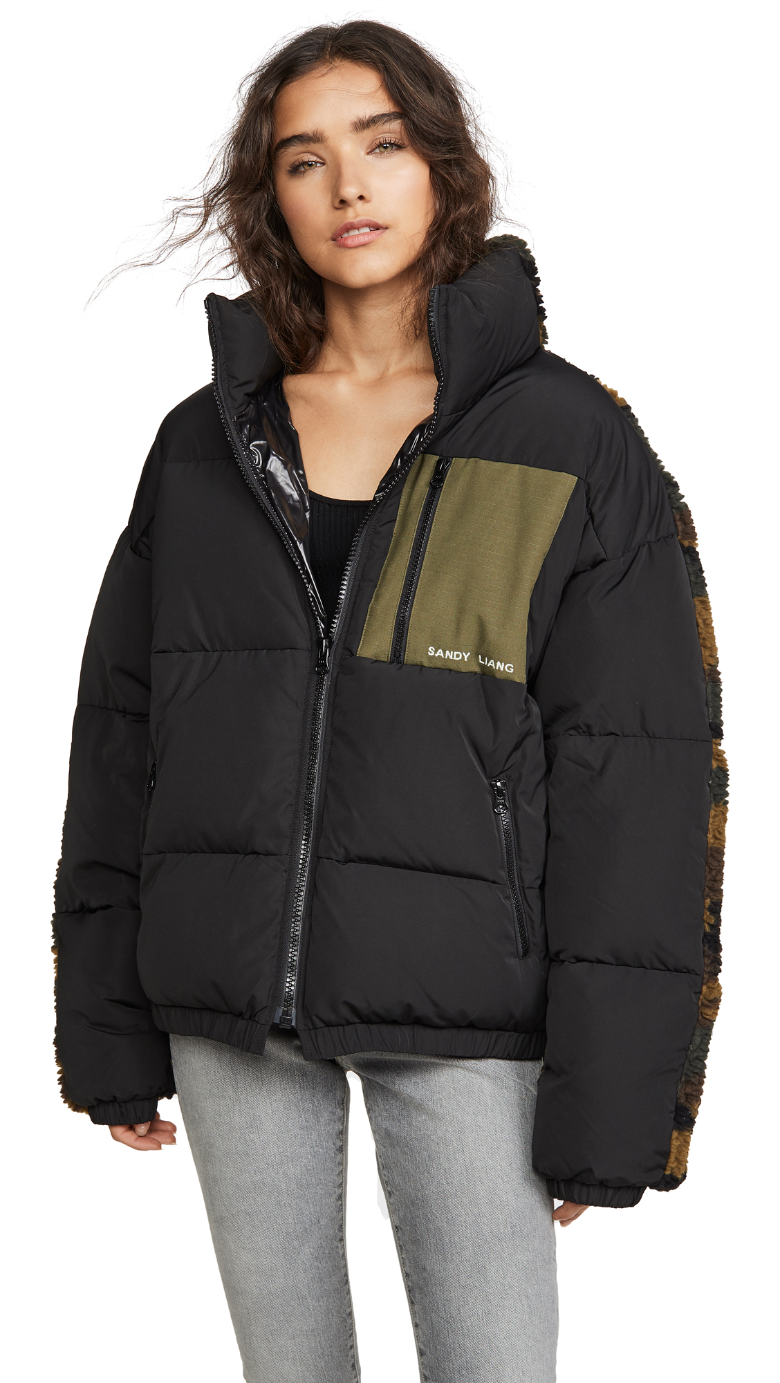 Buy Sandy Liang online - photo of Sandy Liang Catan Puffer Jacket