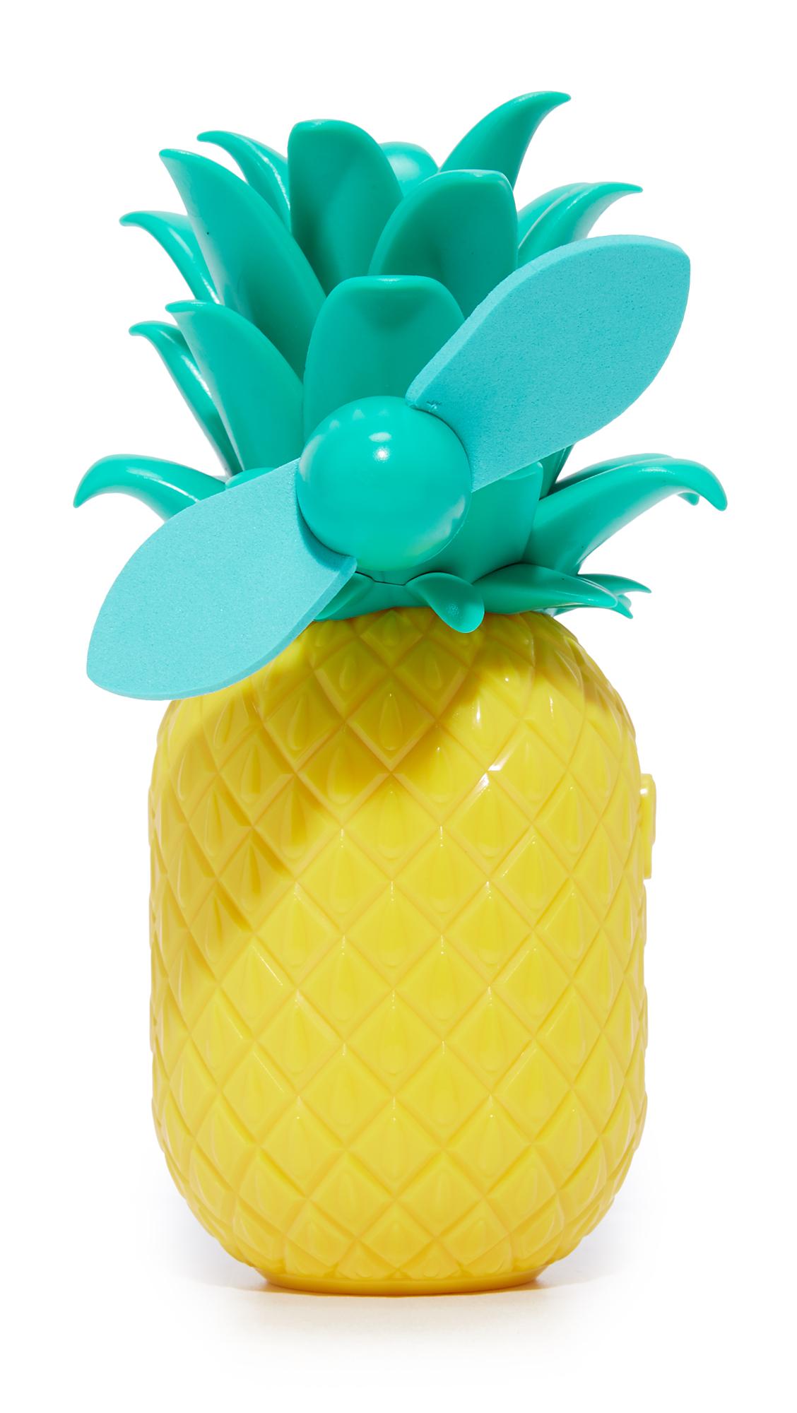 Sunnylife Pineapple Beach Fan - Yellow