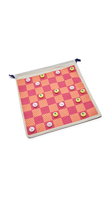 SunnyLife Travel Backgammon & Checkers
