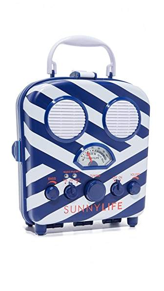 SunnyLife Beach Sounds Speaker & Radio - Blue/White