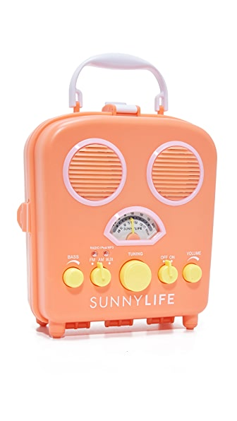 SunnyLife Beach Sounds Speaker & Radio - Orange