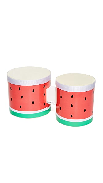 SunnyLife Watermelon Bongo Drums - Red Multi