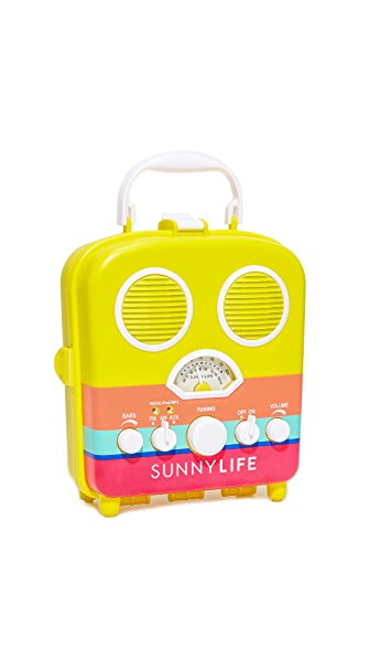 SunnyLife Havana Beach Sounds Speaker & Radio - Yellow Multi
