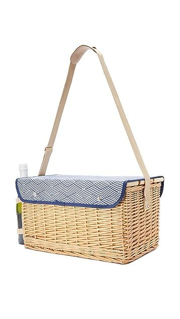 SunnyLife Montauk Deluxe Picnic Basket