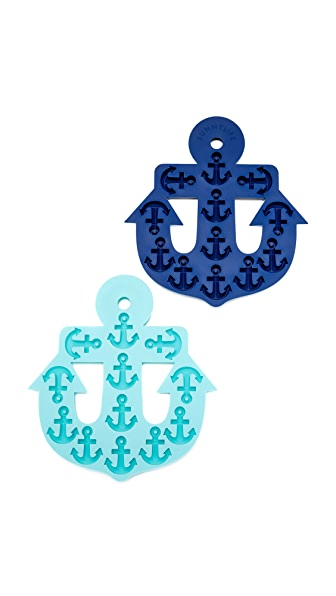 SunnyLife Anchor Ice Trays In Navy