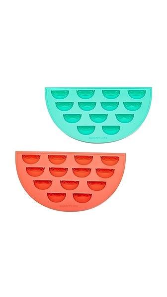 SunnyLife Watermelon Ice Trays - Red/Green