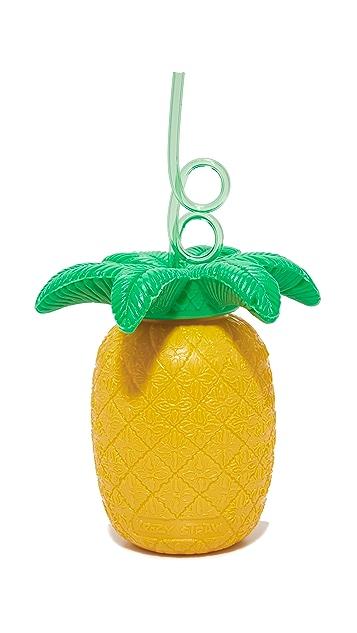 SunnyLife Кружка в виде ананаса Sipper