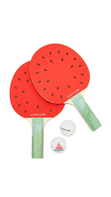 SunnyLife Watermelon Ping Pong Set