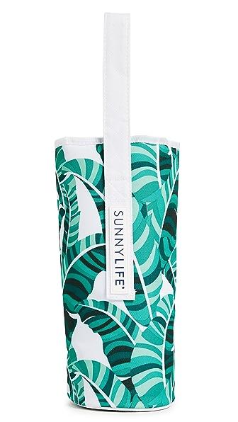 SunnyLife Banana Palm Cooler Bottle Tote