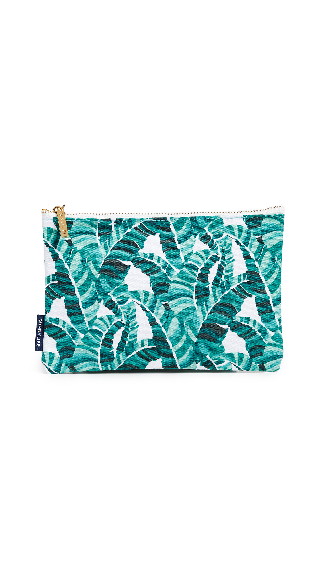 SUNNYLIFE Banana Palm Large Travel Pouch in Green Multi