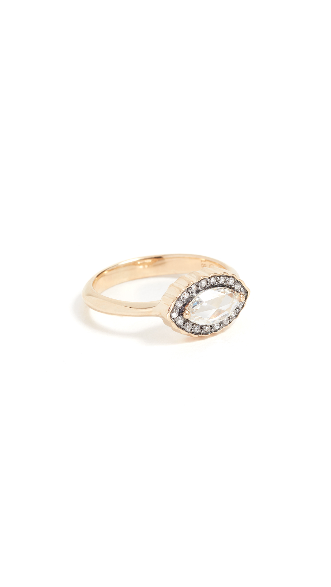 SORELLINA 18K Gold Marquise Diamond Ring in Gold/Clear