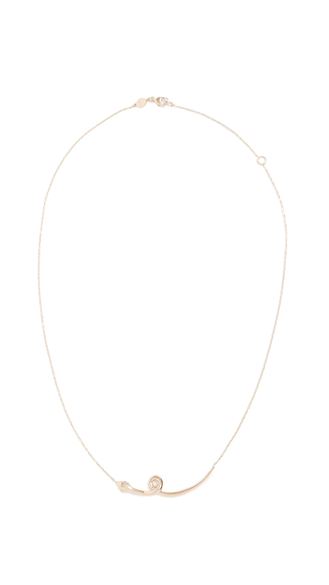SORELLINA 18K GOLD SNAKE NECKLACE
