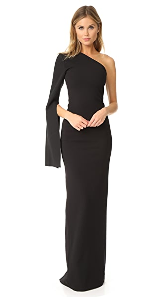 Solace London Ysabel Maxi Dress In Black