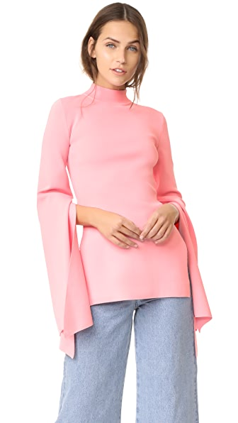 Solace London Adelia Knit Top In Pink