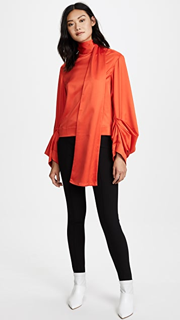Solace London Reina Lace Up Back Top