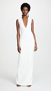 White house black market striped belted dress