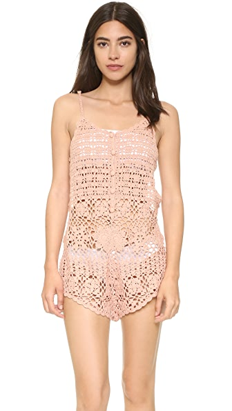 Somedays Lovin Sweet Caroline Romper - Dirty Pink