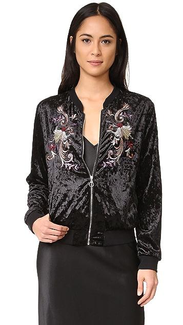 Somedays Lovin Erin Velvet Bomber Jacket