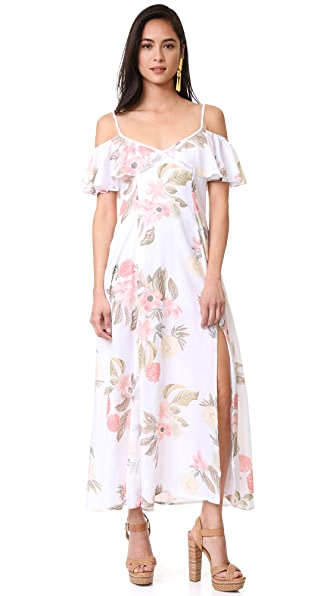 Somedays Lovin Off Shoulder Ruffle Dress In Karolina Floral
