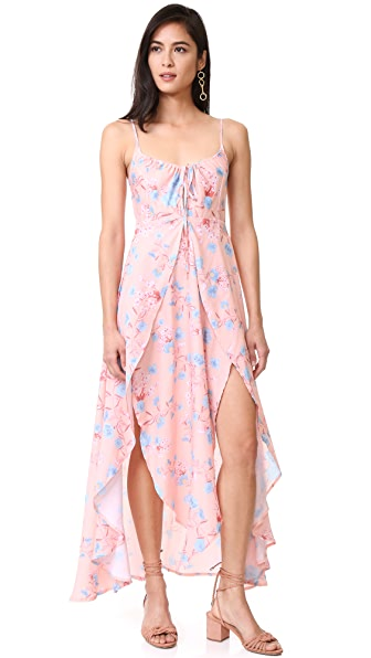 Somedays Lovin Floral Ruffle Dress - Peach Floral