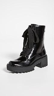 Stella Luna Metal Lace Up Boots