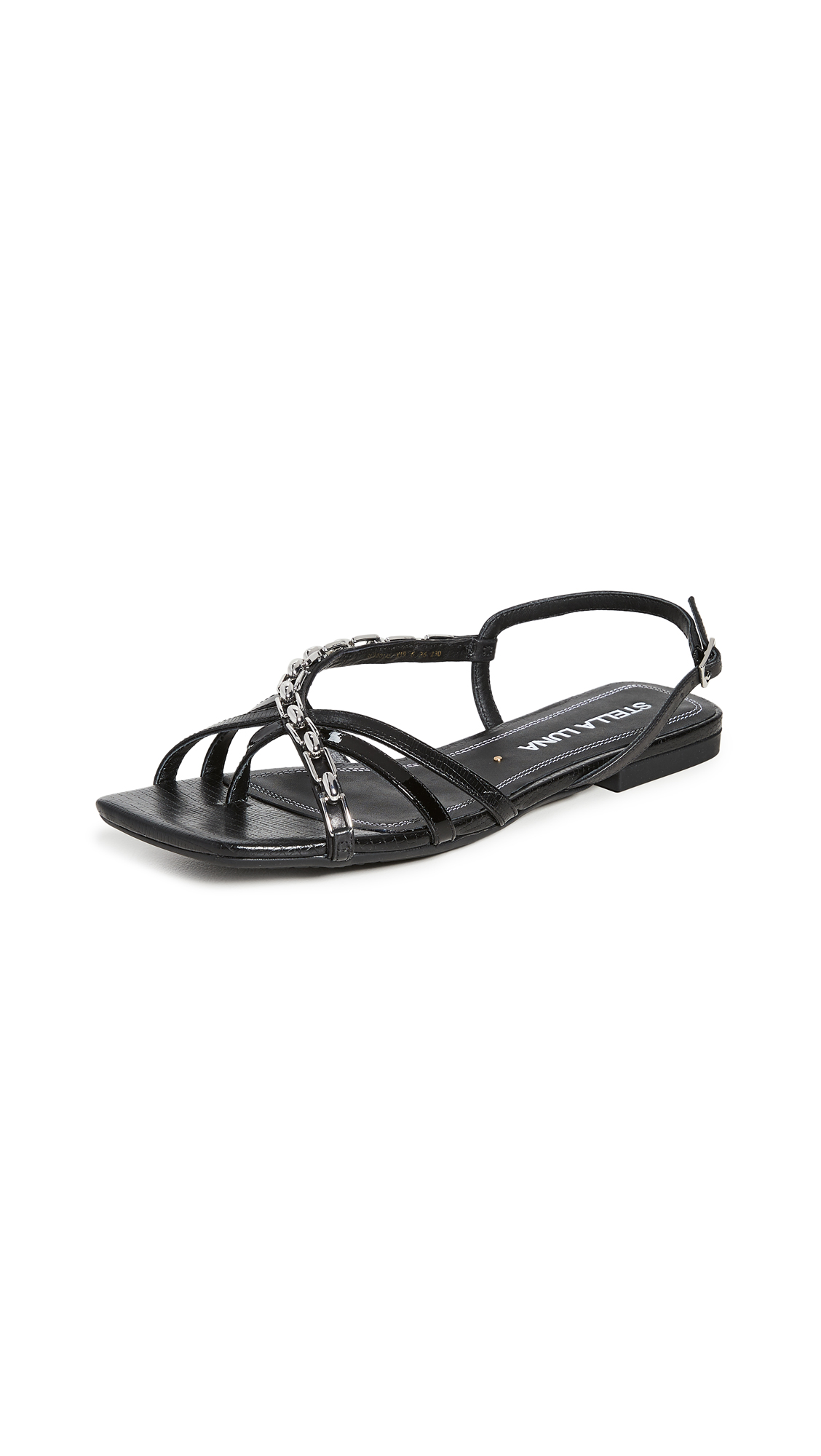 Stella Luna Strappy Chain Sandals - 50% Off Sale