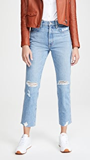 SLVRLAKE Hero High Rise Slim Straight Jeans