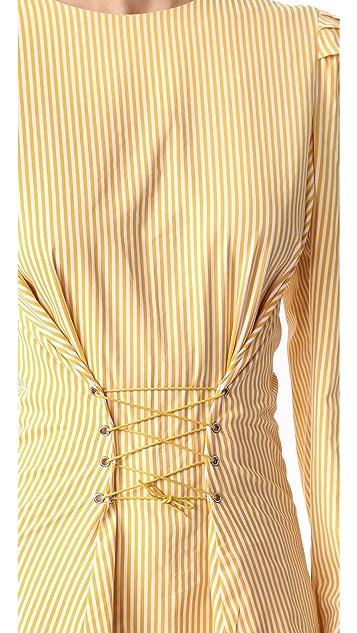 Style Mafia Stripe Corset Blouse