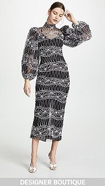 a6c07bafb90f Sandra Mansour. Puff Sleeve Tulle Dress