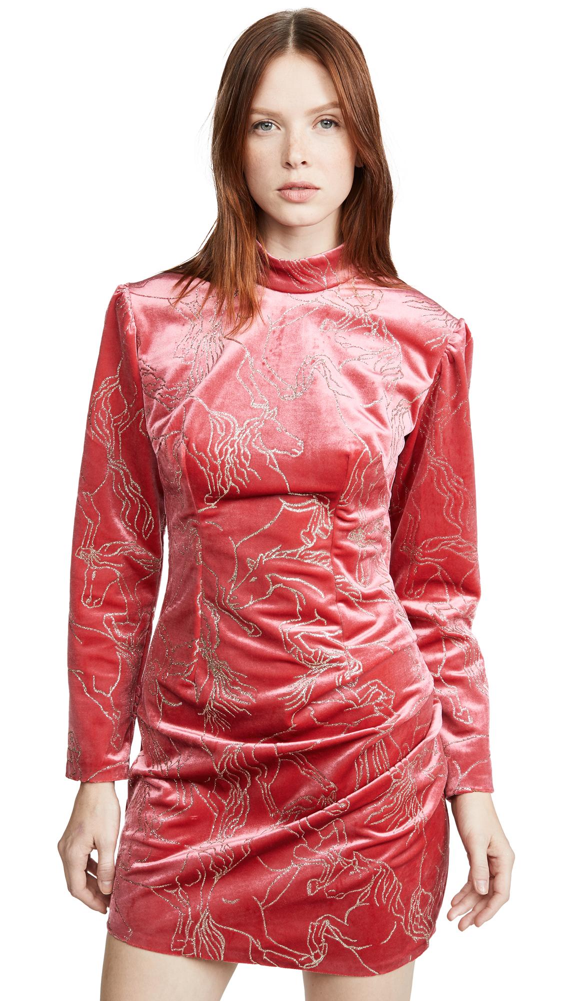 Buy Sandra Mansour online - photo of Sandra Mansour Velvet Glitter Mini Dress