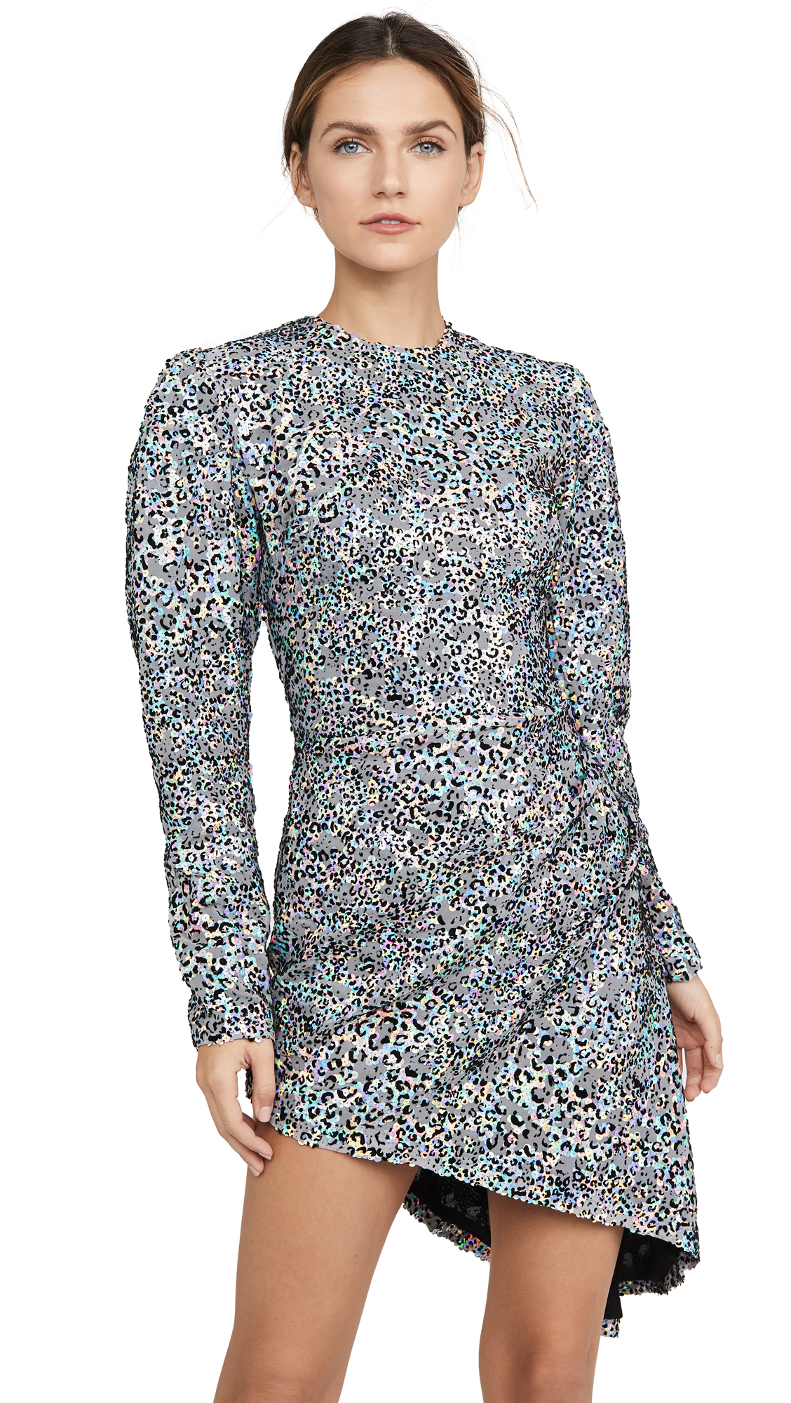 Buy Sandra Mansour Sequined Velvet Leopard Mini Dress online beautiful Sandra Mansour Dresses, Strapless