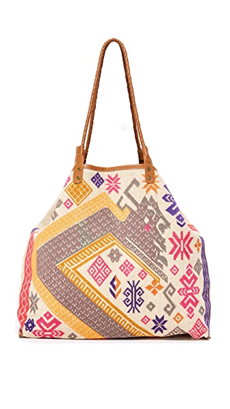 Star Mela Amba Embroidered Tote - Multi
