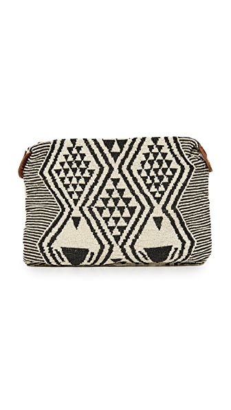 Star Mela Esi Bead Clutch - Black/Ecru