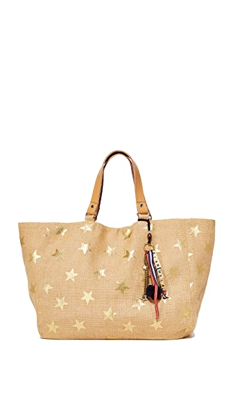 Star Mela Lexi Print Tote - Natural/Gold