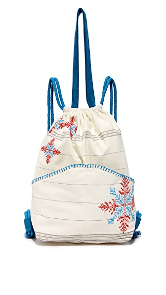 Star Mela Raya Backpack - Natural/Blue