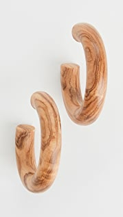 Sophie Monet The Olive Wood Hoop Earrings