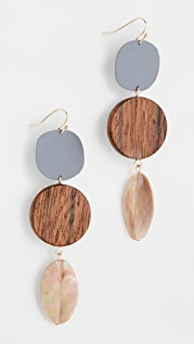 Sophie Monet The Pod Feather Earrings